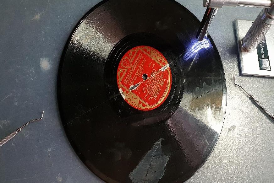 FIXING BROKEN SHELLAC DISC