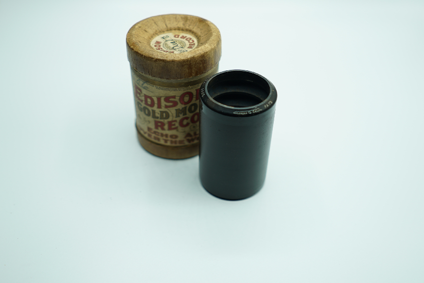 gold moulded WAX CYLINDER TRANSFER TO DIGITAL